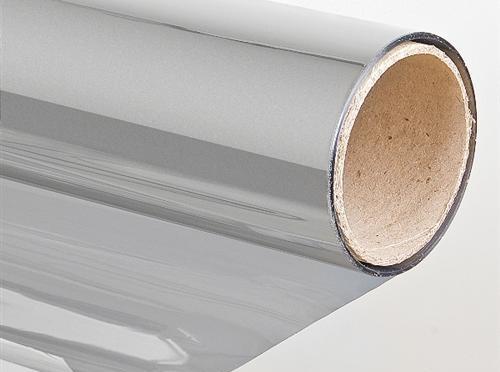 Zonwerende folie 75 x 300 cm zilver krasvast samti for Verduisterende raamfolie